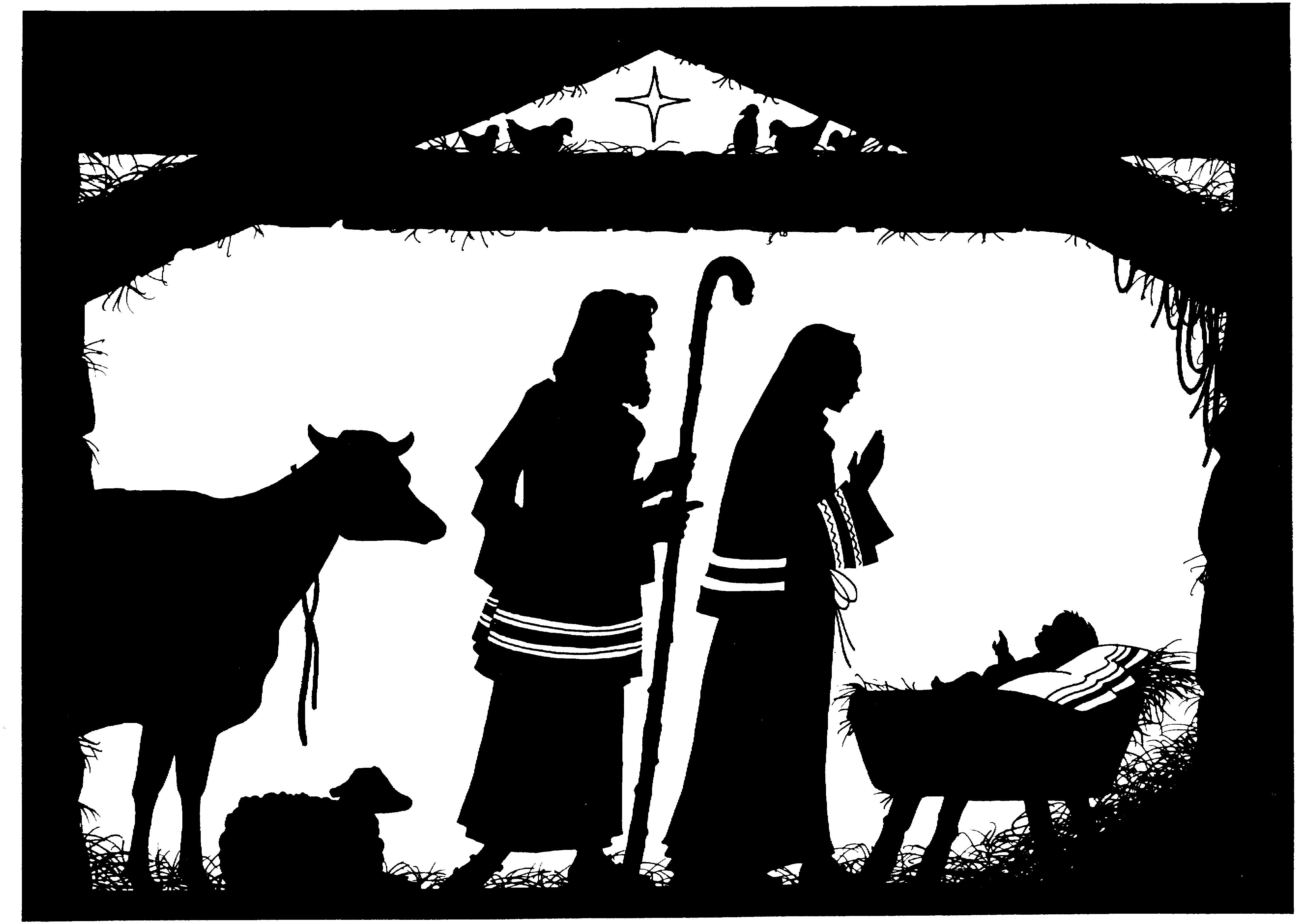 Baby Jesus Manger Star
